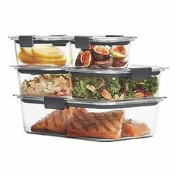 Rubbermaid Brilliance Food Storage Container 10-Piece Set Cl