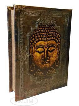 Buddha Book Box Decorative Leather Book Box Storage Secret B