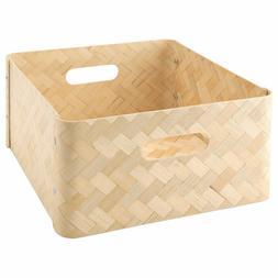 Ikea BULLIG Bamboo Storage Box Home Decor 12 ½ x 13 ¾ x 6