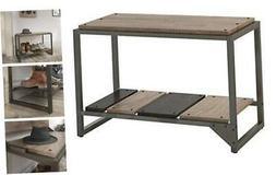 bush furniture refinery shoe storage bench rustic