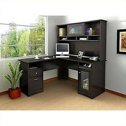 cabot l shaped computer desk with hutch
