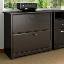 Bush Furniture Cabot Lateral File Cabinet in Espresso Oak