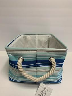 Canvas  Fabric Storage Baskets Bins Collapsible Toy Boxes Or