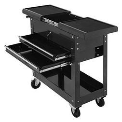Goplus Tool Cart Mechanics Slide Top Utility Storage Organiz