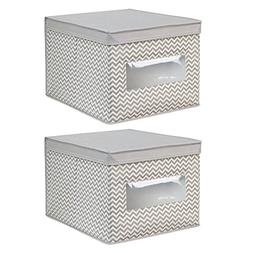 InterDesign Chevron Fabric Closet Organizer Box – Soft Sto
