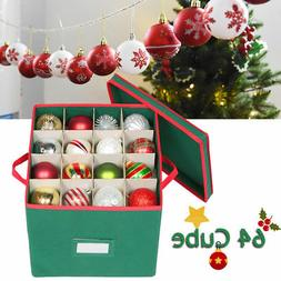 Christmas Ball Ornament Storage Chest Box Xmas Decor Kid Toy