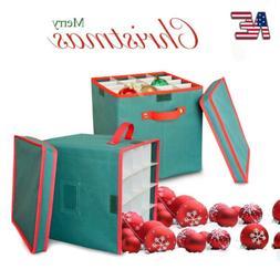 Christmas Ball Ornament Storage Foldable Box Decor Kid Toy O