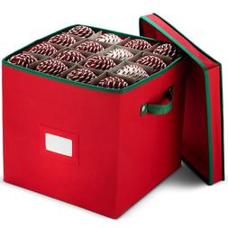 Christmas Non Woven Ornament Storage Box  -Fits Up To 64 orn