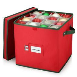 christmas ornament storage box 64 balls heavy