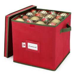 Christmas Ornament Storage Box Fits 64 Balls Xmas Decor Box