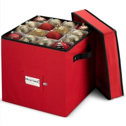 Christmas Ornament Storage Box Holds up To 64 Round Ornament