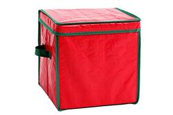 Juvale Christmas Ornament Storage Container with Dividers -