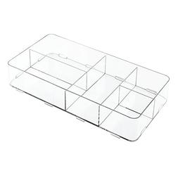 InterDesign Clarity Interlocking 5 Compartment Organizer for