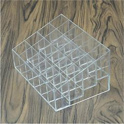 Clear Acrylic Makeup Organizers 24 Lipstick Holder Display S