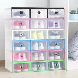 clear drawer shoe box storage organizer plastic
