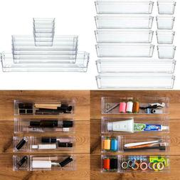 Clear Plastic Drawer Organizer Tray For Vanity Cabinet ,Stor