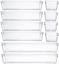Backerysupply Clear Plastic Drawer Organizer Tray for Vanity