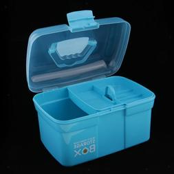 Clear Plastic Storage Box Case Tray for Art Craft Supply, To