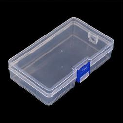 Clear Plastic Storage Box Jewelry Tool Craft Container Beads