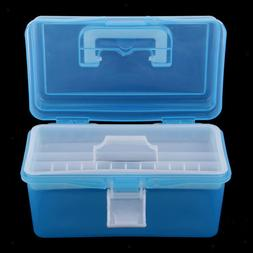Clear Plastic Storage Boxes Case Tray for Art Craft Supply,T