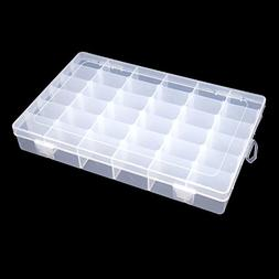 KLOUD City Clear Plastic Jewelry Box Organizer Storage Conta
