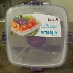 CLEAR SALAD TO GO CONTAINER FOOD STORAGE LOCKING LID