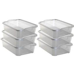 Life Story Clear Stackable Closet & Storage Box 34 Quart Con