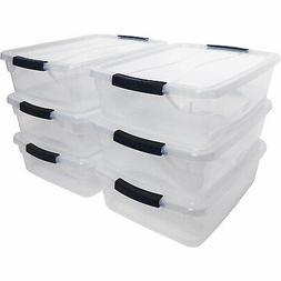 Rubbermaid Cleverstore 16 Quart Plastic Storage Tote Contain