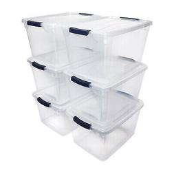 Rubbermaid Cleverstore 30 Quart Plastic Storage Tote Contain