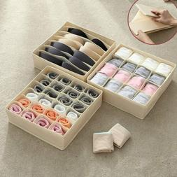 Closet Organizer Box for Underwear Bra Socks Ties Scarves St