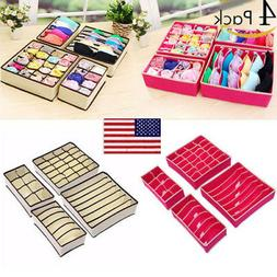 Closet Organizer Box For Underwear Socks Scarves Ties Bra St