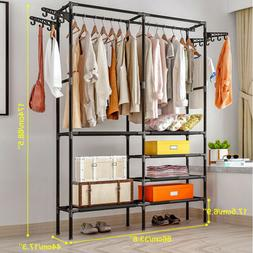 closet organizer kit clothes storage shelf rack