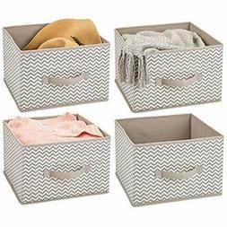 MDesign Closet Systems Soft Fabric Storage Organizer Holder
