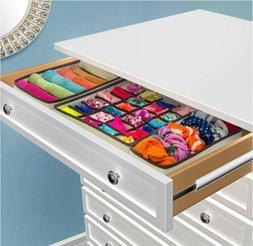 Closet Underwear Organizer Drawer Divider 4 Set for Underwea