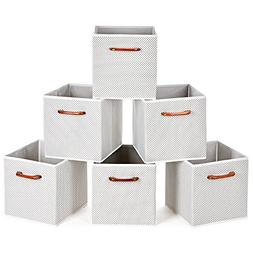 MaidMAX Cloth Storage Bins Cubes Baskets Containers with Woo