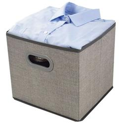 Cloth Storage Bins Cubes Boxes Fabric Baskets Containers,Fol