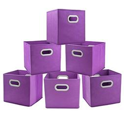Cloth Storage Bins Cubes Boxes Fabric Baskets Containers,Col