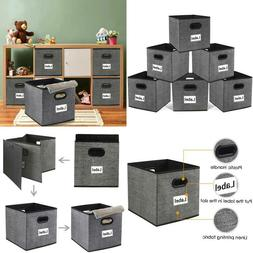 Cloth Storage Bins,Flodable Cubes Box Baskets Containers Org