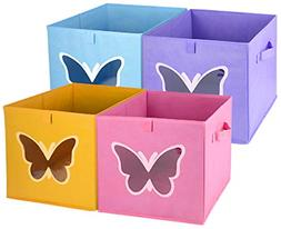 Homyfort Cloth Storage Bins, Foldable Cubes Box Basket Organ