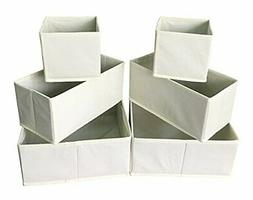 Sodynee Cloth Storage Box Closet Dresser Drawer Organizer, 6