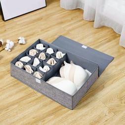 Clothes Storage Box Foldable Closet Organizer For Bra Underw
