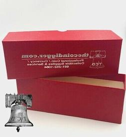 Coin Slab Storage Box RED Holds 2½ x 2½ Crown Paper Holder