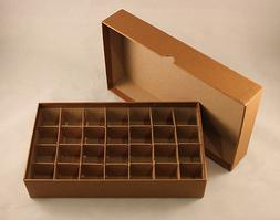 COIN STORAGE BOX - Holds HALF DOLLAR ROLLS + TUBES - 28 SLOT