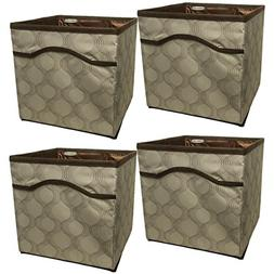 Rubbermaid  Collapsible Beige Canvas Basket Storage Containe