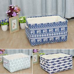 Collapsible Fabric Storage Bin Laundry Basket Toy Box Organi