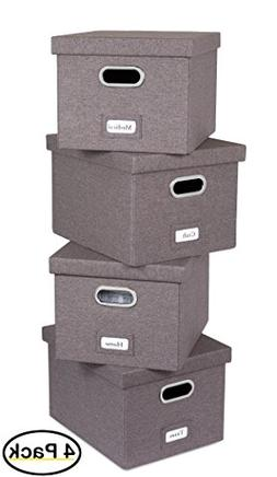 Internet's Best Collapsible File Storage Organizer Box with
