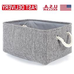 Collapsible Rectangle Canvas Basket Storage Cube Bin Home To