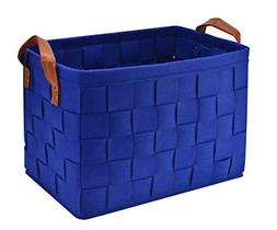 Collapsible Storage Basket Bins Foldable Felt Fabric Storage