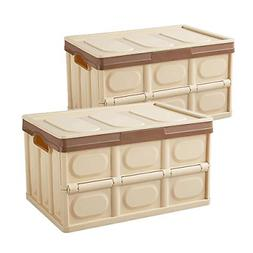 Livememory Collapsible Storage Bins with Lids, Plastic Stora