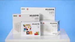 Complete Set IKEA BYGGLEK Storage Box + Lego 201-piece Brick